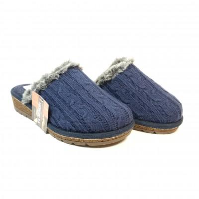 Ružička dámske papuče z ovčej vlny Ovečka Navy