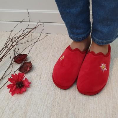 Ružička dámske papuče Classic Red