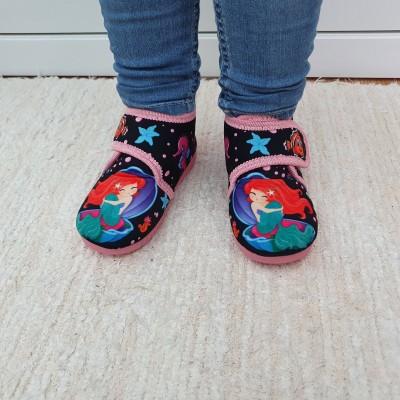 Alcalde voňavé dievčenské detské papuče Ariel morská víla Negro