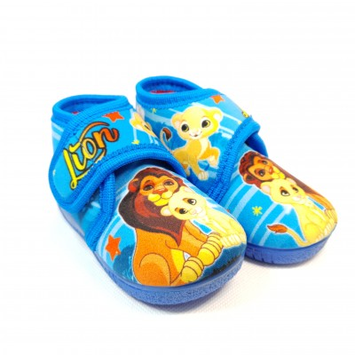 Alcalde voňavé unisex detské papuče Leví kráľ Azul
