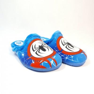 Alcalde chlapčenské detské papuče Spiderman Azul