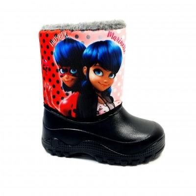 Dievčenské detské zimné snehule Kúzelná lienka Marinette + ponožky Disney